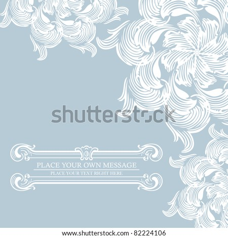 Elegance vintage invitation card place for text or message - stock vector