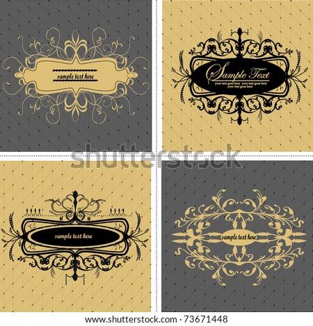 elegance vintage vector frames - stock vector