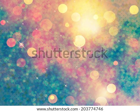 Elegant abstract background with bokeh defocused lights. EPS 10 vector file included - stock vector