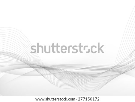 Elegant abstract smooth swoosh speed gray wave modern stream background. Vector illustration - stock vector