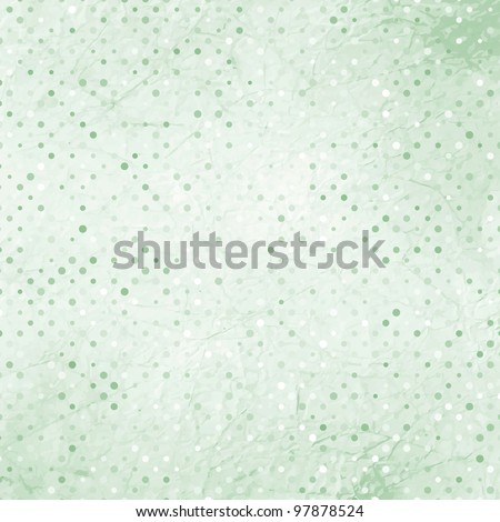 Elegant aged and worn paper with polka dots. And also includes EPS 8 vector - stock vector