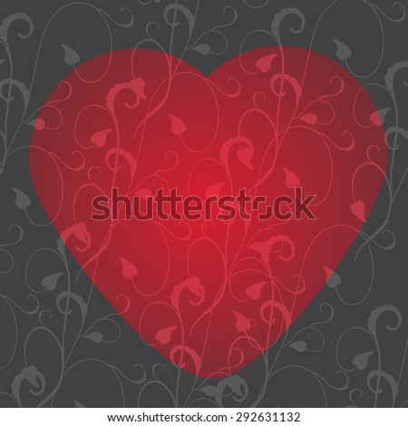 Elegant and stylish abstract floral background. Valentine's Day card. - stock vector