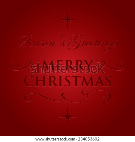 Elegant and stylish Merry Christmas greeting card - stock vector