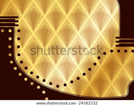 Elegant Art Deco Background (vector); a JPG version is also available - stock vector