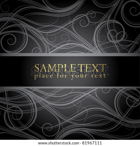 elegant background with place for your text - stock vector