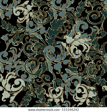 leaf scroll wallpaper vintage patterns - photo #39
