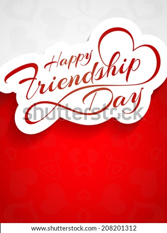 Elegant beautiful card design for friendship day. vector illustration - stock vector