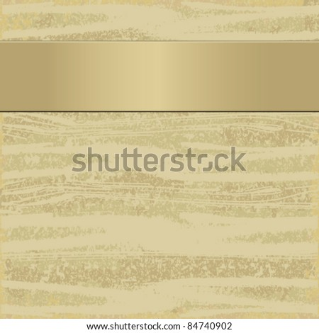 Elegant beige background with a ribbon - stock vector