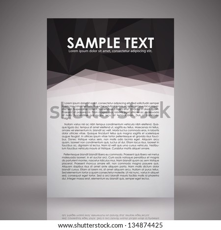 elegant black white flyer template eps stock vector 134874425 shutterstock. Black Bedroom Furniture Sets. Home Design Ideas