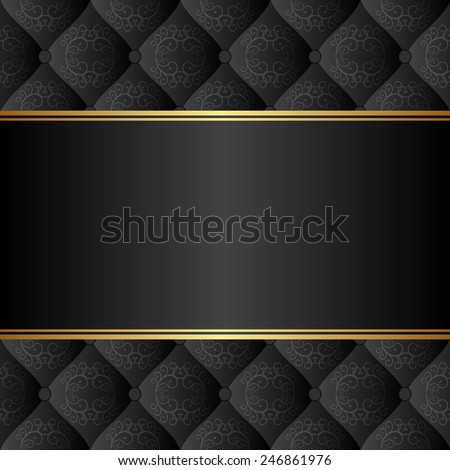 elegant black background - stock vector