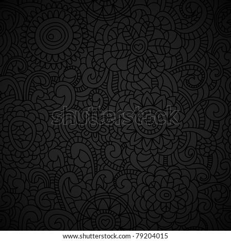 Elegant black seamless pattern - stock vector