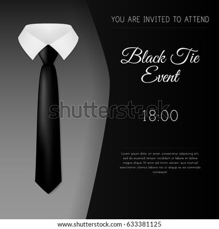 elegant black tie event invitation template stock vector 633381125