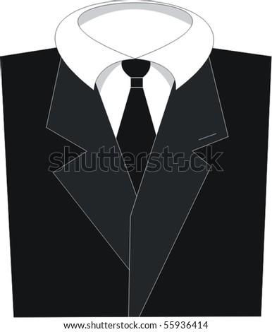Elegant Black Tuxedo - stock vector