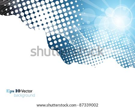 Elegant blue background - stock vector