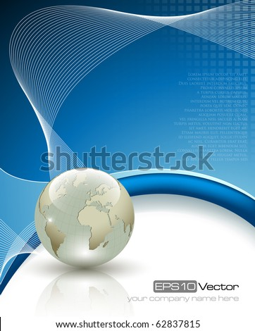 Elegant business background - vector illustration - stock vector