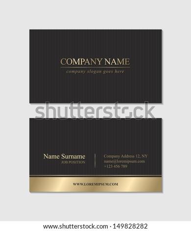 Elegant Business Card - stock vector