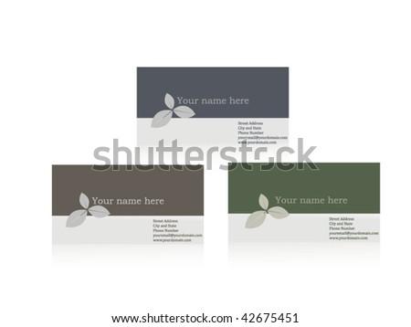 Elegant business card set - stock vector