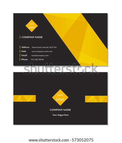 Elegant business card template vector stock vector 573052075 elegant business card template vector wajeb Gallery