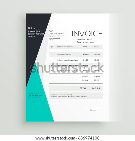 Elegant business invoice template creative design stock vector elegant business invoice template creative design stock vector 686974108 shutterstock thecheapjerseys Image collections