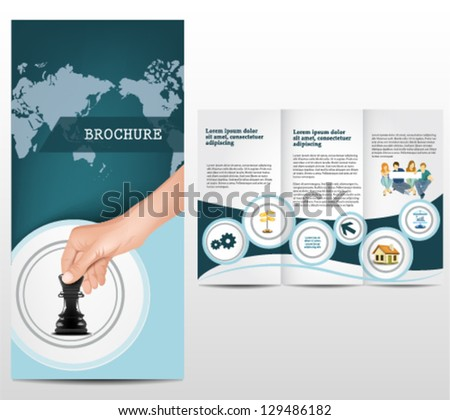 Elegant business template - stock vector