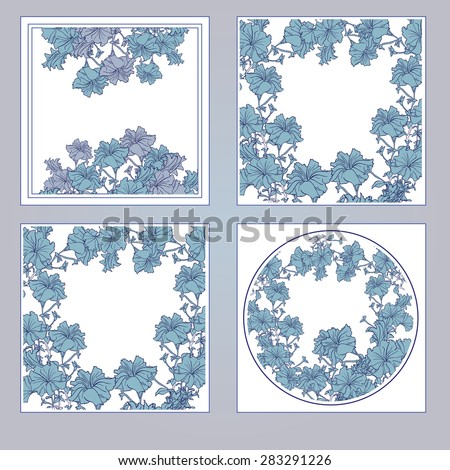 Elegant card with decorative flowers, design elements. Can be used for weddings, Mother's Day, Valentine's Day, birthday cards, invitations, greeting. decorative flowers. - stock vector