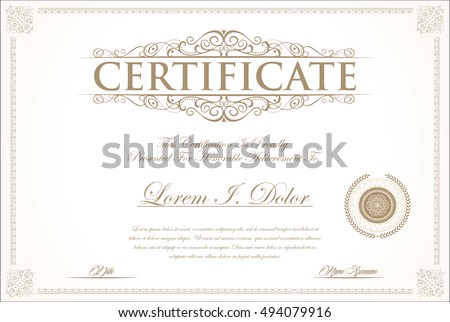 Share Certificate Images RoyaltyFree Images Vectors – Stock Share Certificate Template