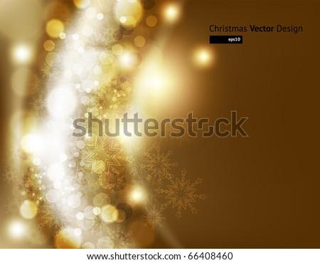 elegant christmas background - stock vector