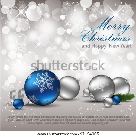 Elegant Christmas Background. Eps10. - stock vector