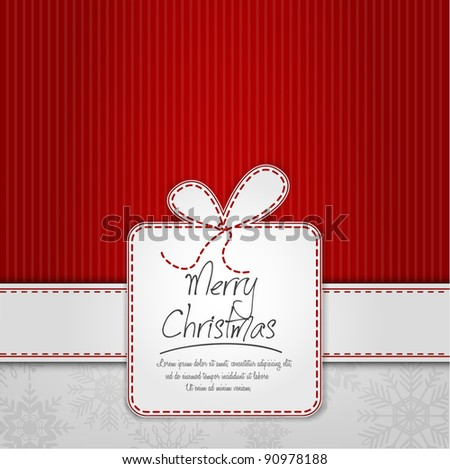 Elegant Christmas Background With Gift Box - stock vector