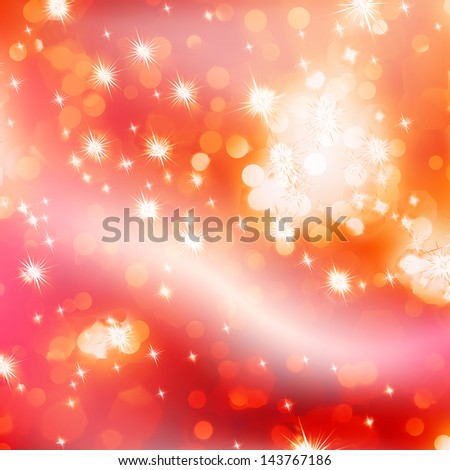 Elegant Christmas background with golden stars. EPS 10 vector file included - stock vector