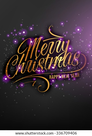 Elegant Christmas Background with Holiday Label and place for New Year text invitation - stock vector