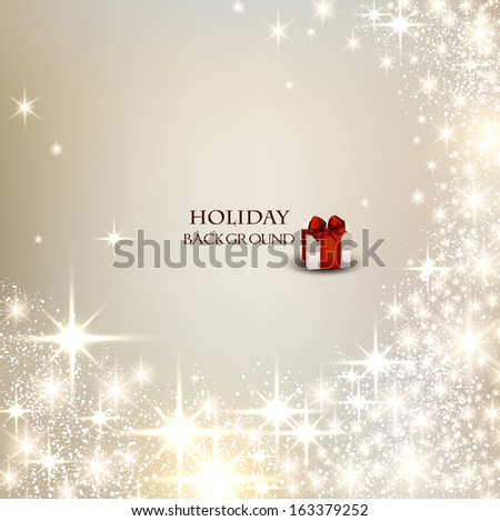 Elegant Christmas background with place for text. Vector Illustration. - stock vector