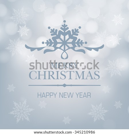 elegant christmas background with snowflakes / Abstract Christmas background with snowflakes. Vector Illustration. / Christmas Card or Cover Template Design with Merry Christmas Text - stock vector