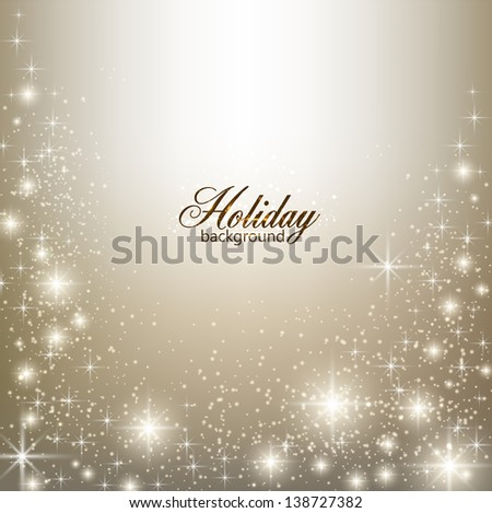 Elegant Christmas background with snowflakes and place for text. - stock vector