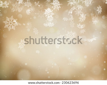 Elegant Christmas background with snowflakes and place for text. EPS 10 vector file included - stock vector