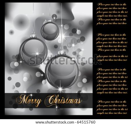Elegant Christmas Backgruond with Golden details - stock vector