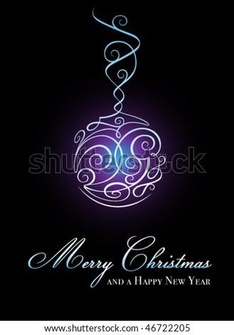 Elegant christmas ball illustration - stock vector