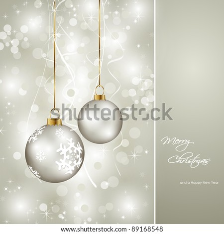 elegant christmas card - stock vector