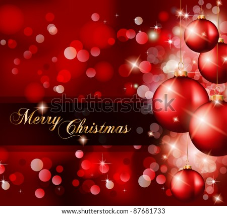 Elegant Classic Christmas Greetings background for flyers, invitations, cards or posters. - stock vector