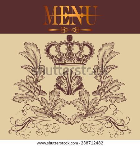 Elegant classic invitation or restaurant menu - stock vector
