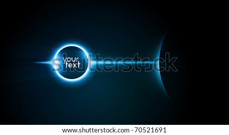 Elegant Clean Placeholder for Text in Space | Great for Intro Animation, Motion Graphics - Separated Layers named accordingly - stock vector