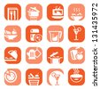 Elegant Colorful Food Icons Set Created For Mobile, Web And Applications. - stock vector