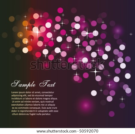 Elegant Colorful Glitter Abstrat Lights for Flyers Background - stock vector