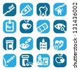 Elegant Colorful Health Icons Set Created For Mobile, Web And Applications. - stock vector