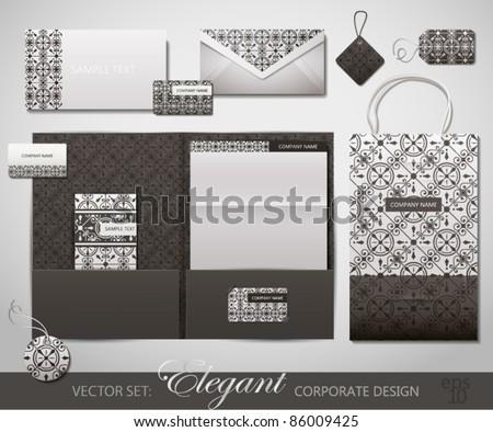 Elegant Corporate Design. Vector Illustration. - stock vector