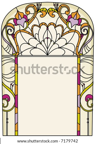 Elegant design for  vitrail/stained glass