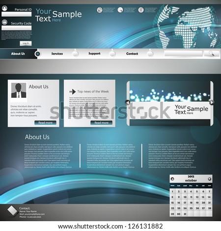 Elegant Design, Website Template - stock vector