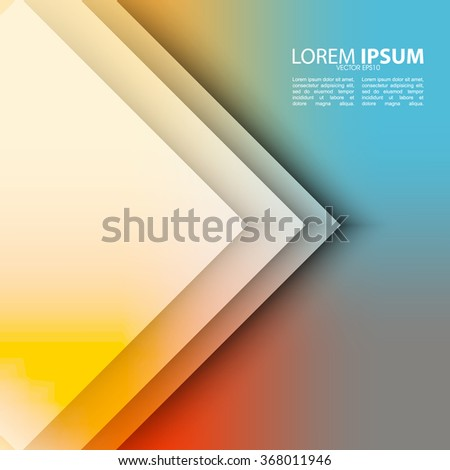 elegant flat transparent overlapping triangular elements on vibrant clean colorful background - stock vector