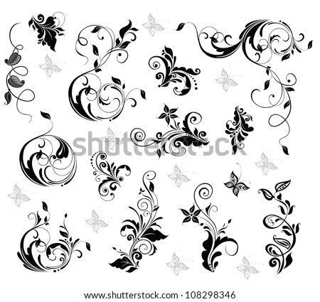 Elegant floral design - stock vector