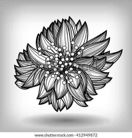 Elegant Floral Element for design, vintage wedding invitations, greeting cards, banners., EPS10 Vector background - stock vector